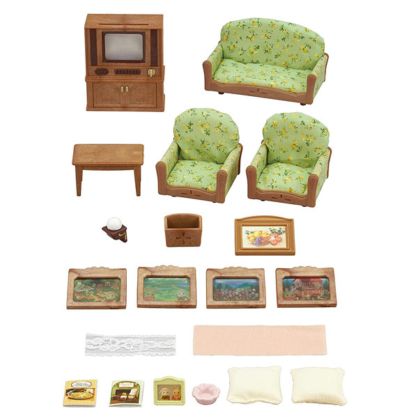 اسباب بازی سیلوانیان فامیلیز مدل ست اتاق نشیمن و تلویزیون کد 5287