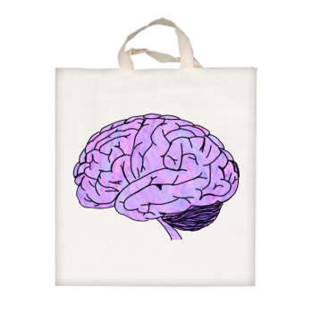 تصویر ساک خرید مدل مغز کد 455
