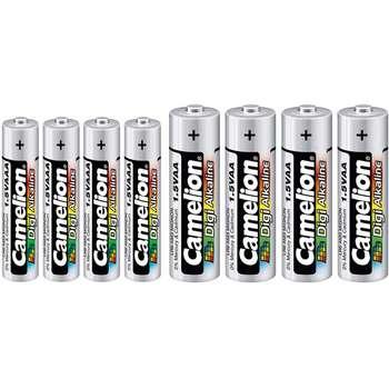 باتری قلمی و نیم قلمی کملیون مدل Digi Alkaline بسته 8 عددی