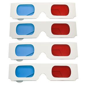 عینک سه بعدی طرح White color بسته چهارعددی