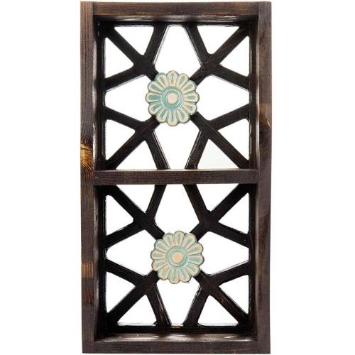 قفسه چوبی گالری اسعدی طرح دو گل کد 66036