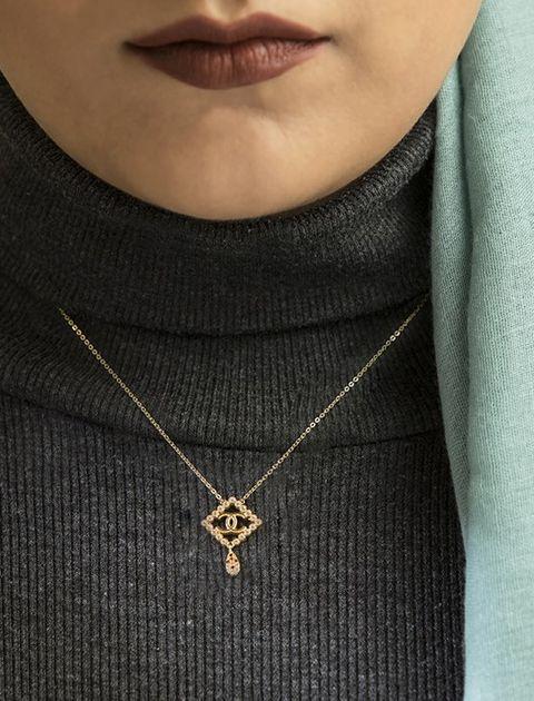 گردنبند طلا 18 عیار ماهک مدل MM0410 - مایا ماهک -  - 4