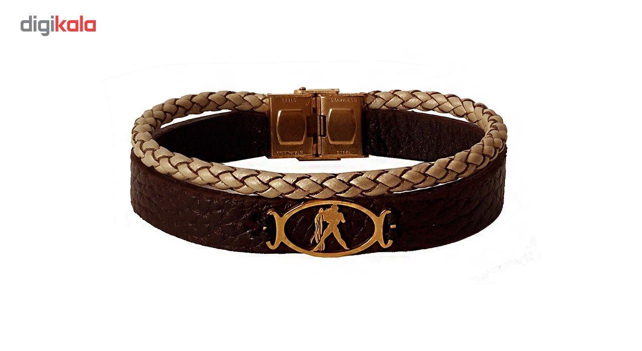 دستبند چرمی مانی چرم مدل BL-157 -  - 2