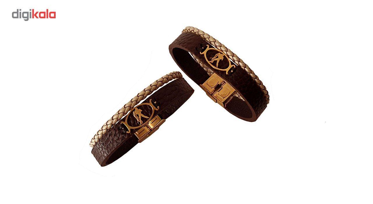 دستبند چرمی مانی چرم مدل BL-157 -  - 3