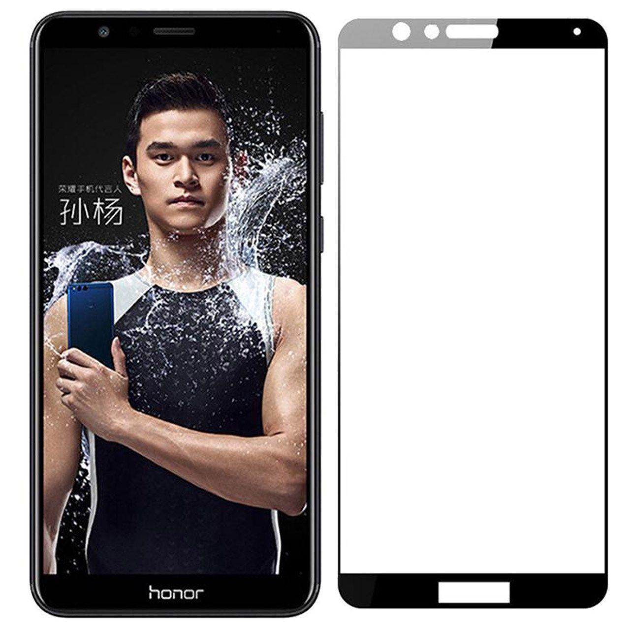 محافظ صفحه نمایش تمپرد مدل فول چسب مناسب برای گوشی موبایل هواوی Honor 7X