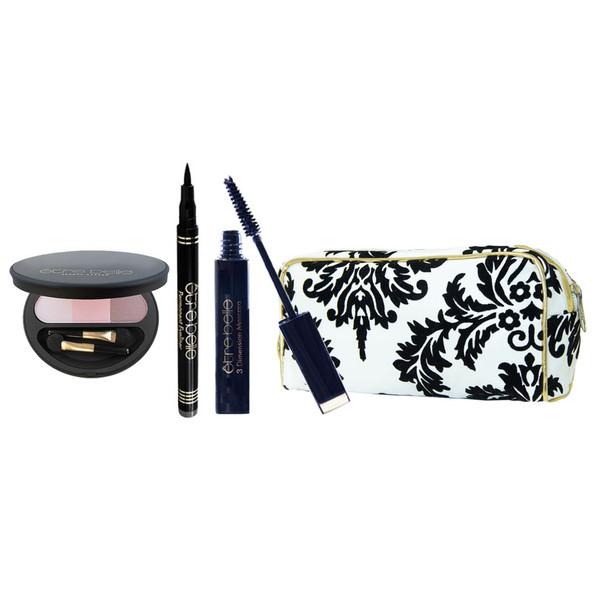 پک آرایشی چشم اتق بل مدل 12 مجموعه سه عددی به همراه کیف لوازم آرایش