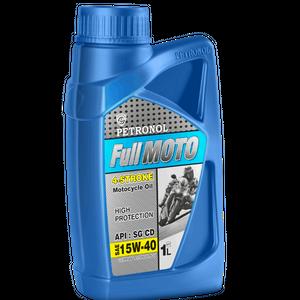 روغن موتور سیکلت چهار زمانه پترونول مدل فول موتو SAE 15w-40 ظرفیت 1 لیتر