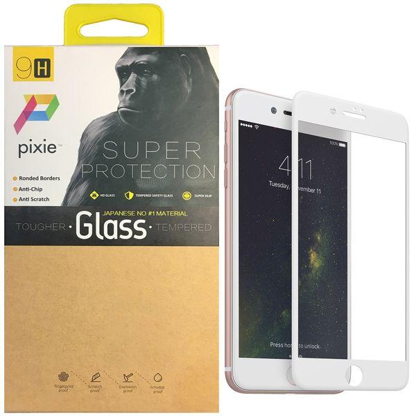 محافظ صفحه نمایش  تمام چسب شیشه ای پیکسی مدل 5D  مناسب برای گوشی اپل آیفون 8