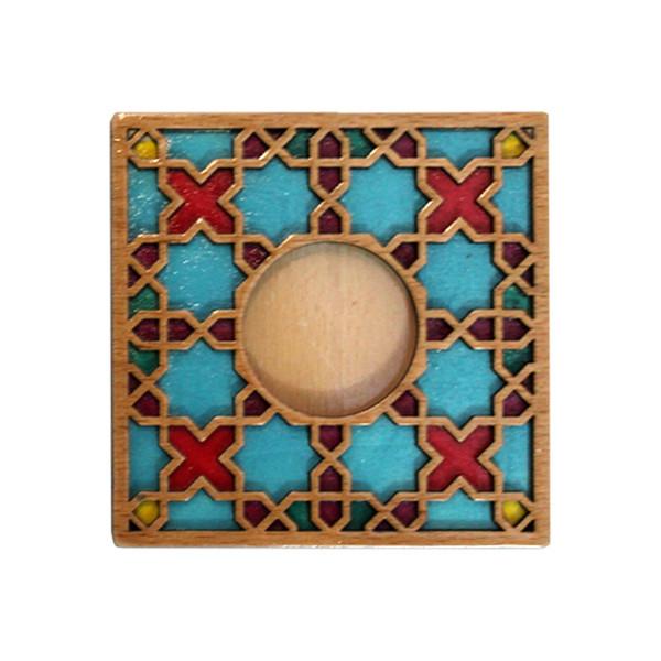جاشمعی رومیزی چوبی گالری روهام مدل 102 سنتی بسته 2 عددی