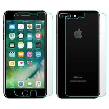 محافظ صفحه نمایش و پشت شیشه ای هوکار مدل Tempered مناسب برای گوشی موبایل اپل آیفون 7 پلاس