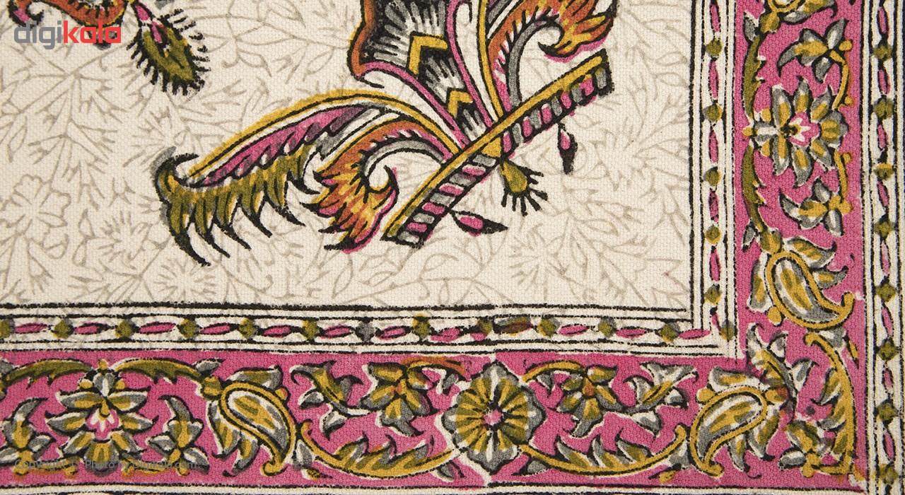خرید                      سفره قلمکار اثر عطریان طرح 15 سایز 80 × 80 سانتی متر