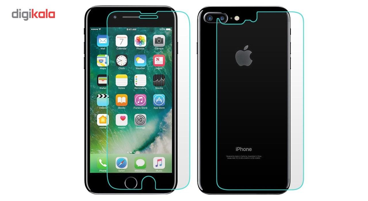 محافظ صفحه نمایش و پشت شیشه ای هوکار مدل Tempered مناسب برای گوشی موبایل اپل آیفون 7 پلاس main 1 1