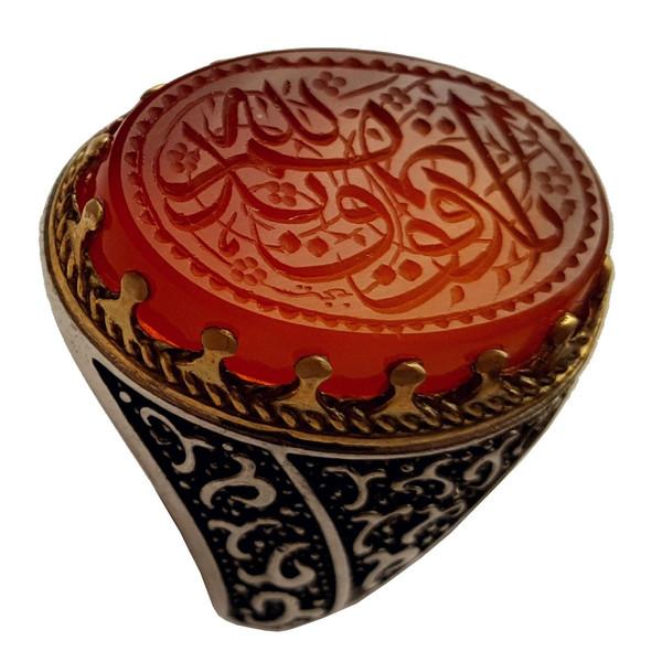انگشتر نقره جواهرسرا مدل عقیق سرخ