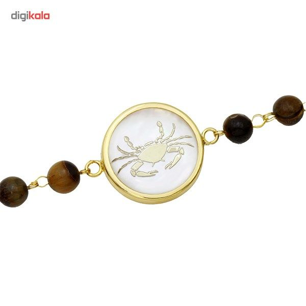 دستبند طلا 18 عیار ماهک مدل MB0116