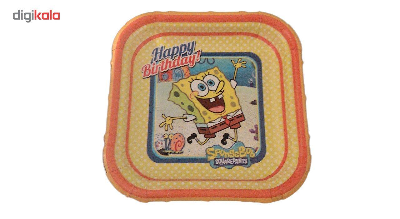 پیش دستی و لیوان یکبار مصرف مدل bob sponge مجموعه 40 عددی main 1 1