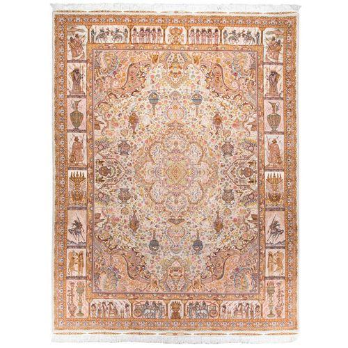 فرش دستبافت دوازده متری ابریشم نقشه رسول نامی