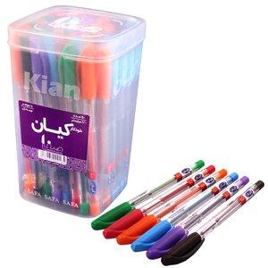 خودکار  رنگی کیان بسته 50 عددی