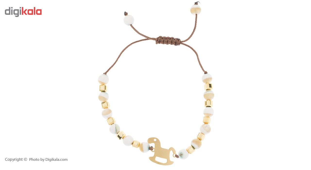 دستبند طلا 18 عیار ماهک مدل MB0426 - مایا ماهک -  - 2