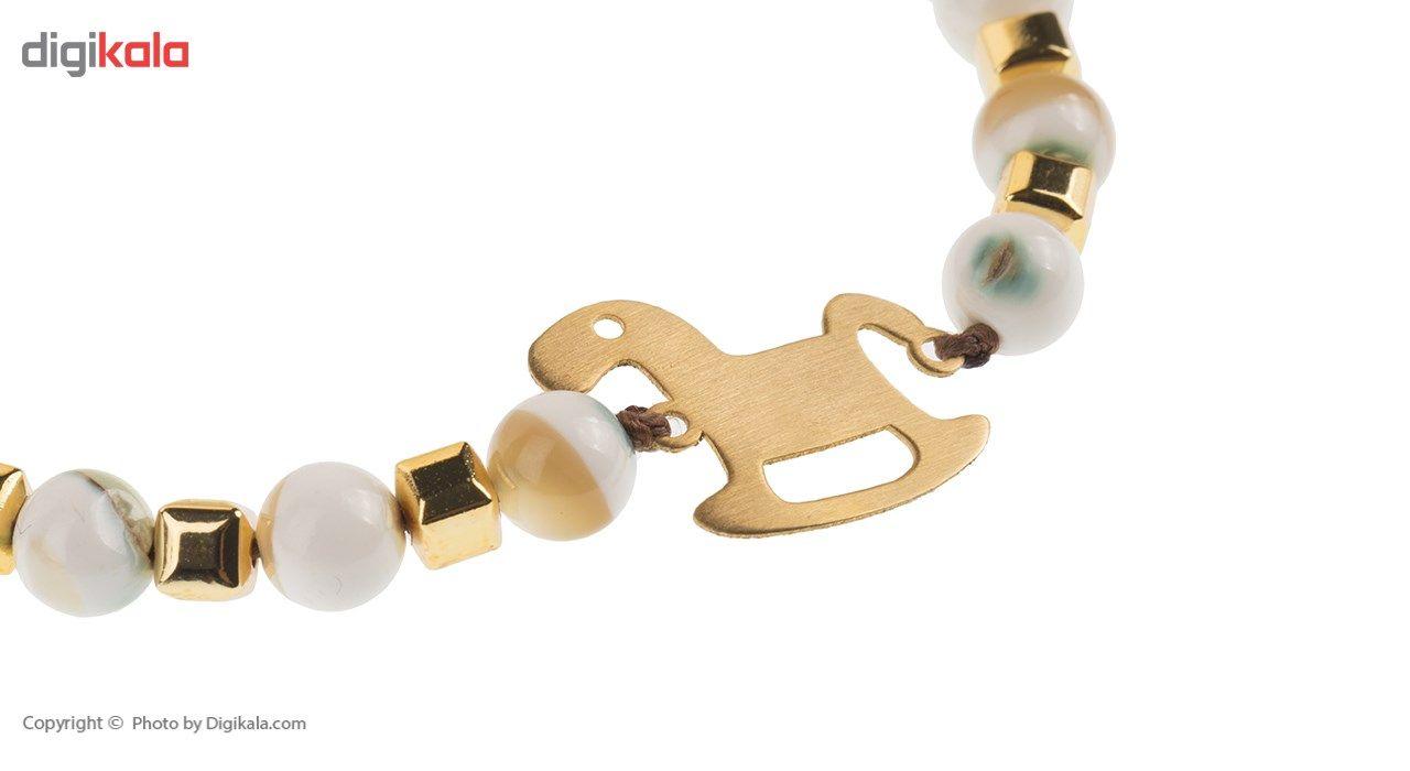 دستبند طلا 18 عیار ماهک مدل MB0426 - مایا ماهک -  - 3