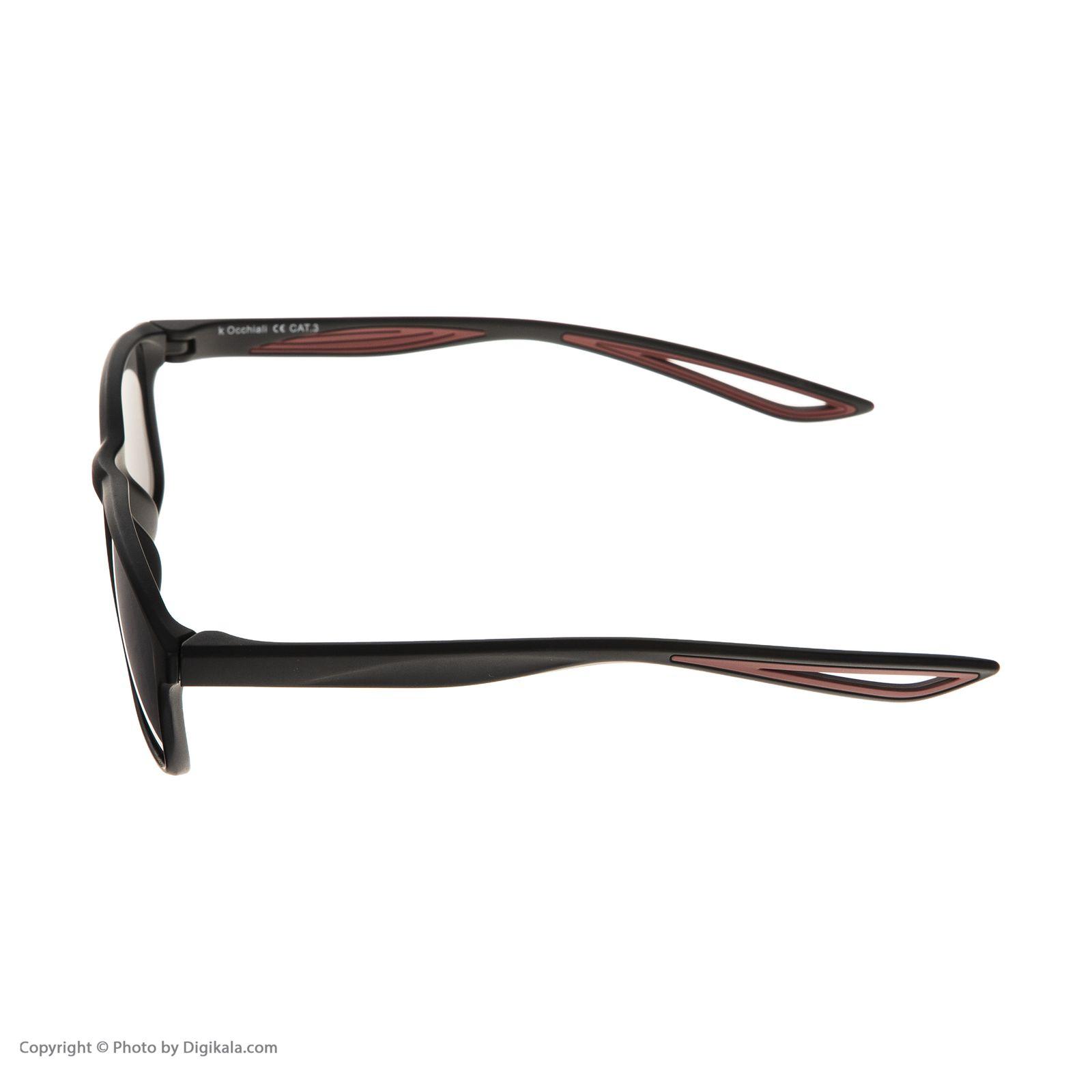 عینک آفتابی مردانه اوکیالی مدل sp4181C2 -  - 5