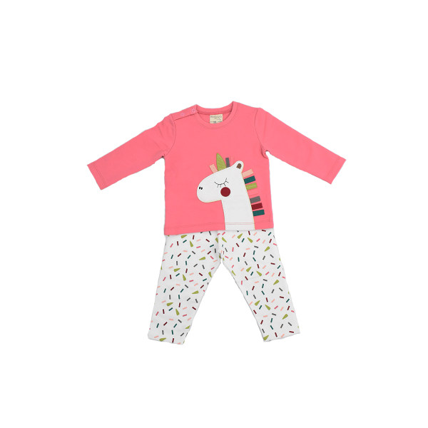 ست تی شرت و شلوار نوزادی رابو مدل 1406