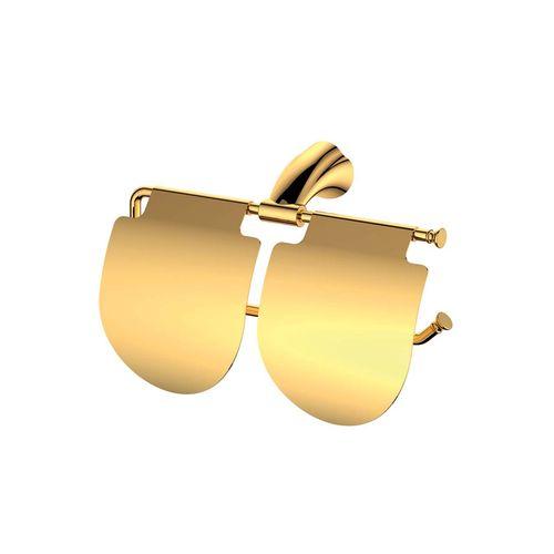 جای دستمال توالت دوقلوی ویسن تین مدل  GOLD رنگ طلایی
