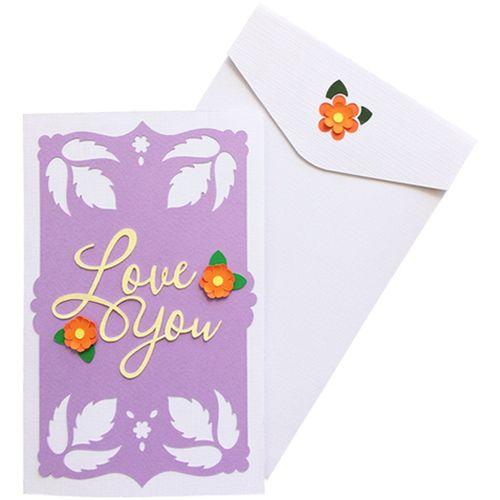 کارت دست ساز هدهد طرح love you mom کد EM7070