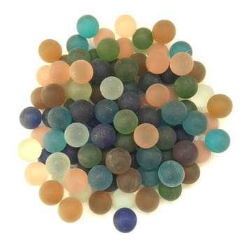 تیله شیشه ای گلدونه مدل پاستیلی بسته 100 عددی