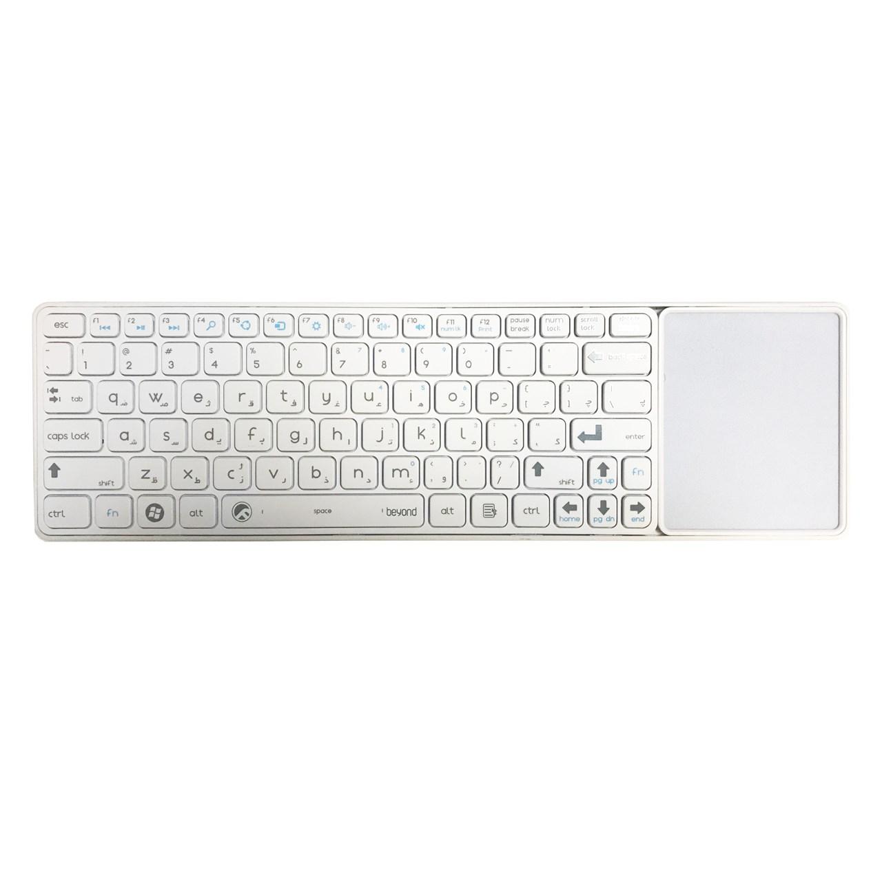 کیبورد بی سیم و مجهز به تاچ پد بیاند مدل FCR-6800 با حروف فارسی