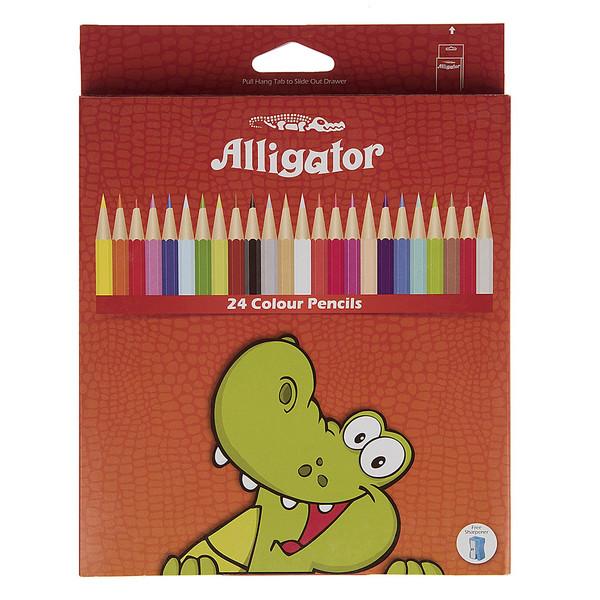 مداد رنگی 24 رنگ الیگیتور