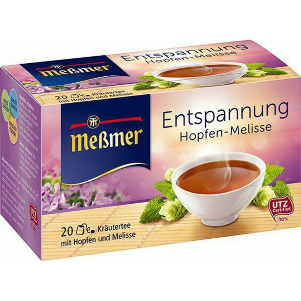 بسته دمنوش گیاهی آرامش بخش مسمر مدل Entspannung Hopfen - Melisse