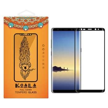 محافظ صفحه نمایش شیشه ای کوالا مدل Full Cover مناسب برای گوشی موبایل سامسونگ Galaxy Note 8