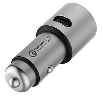 شارژر فندکی شیاومی مدل   CZCDQ02ZM QC3.0 فست شارژ دارای پورت USB-C