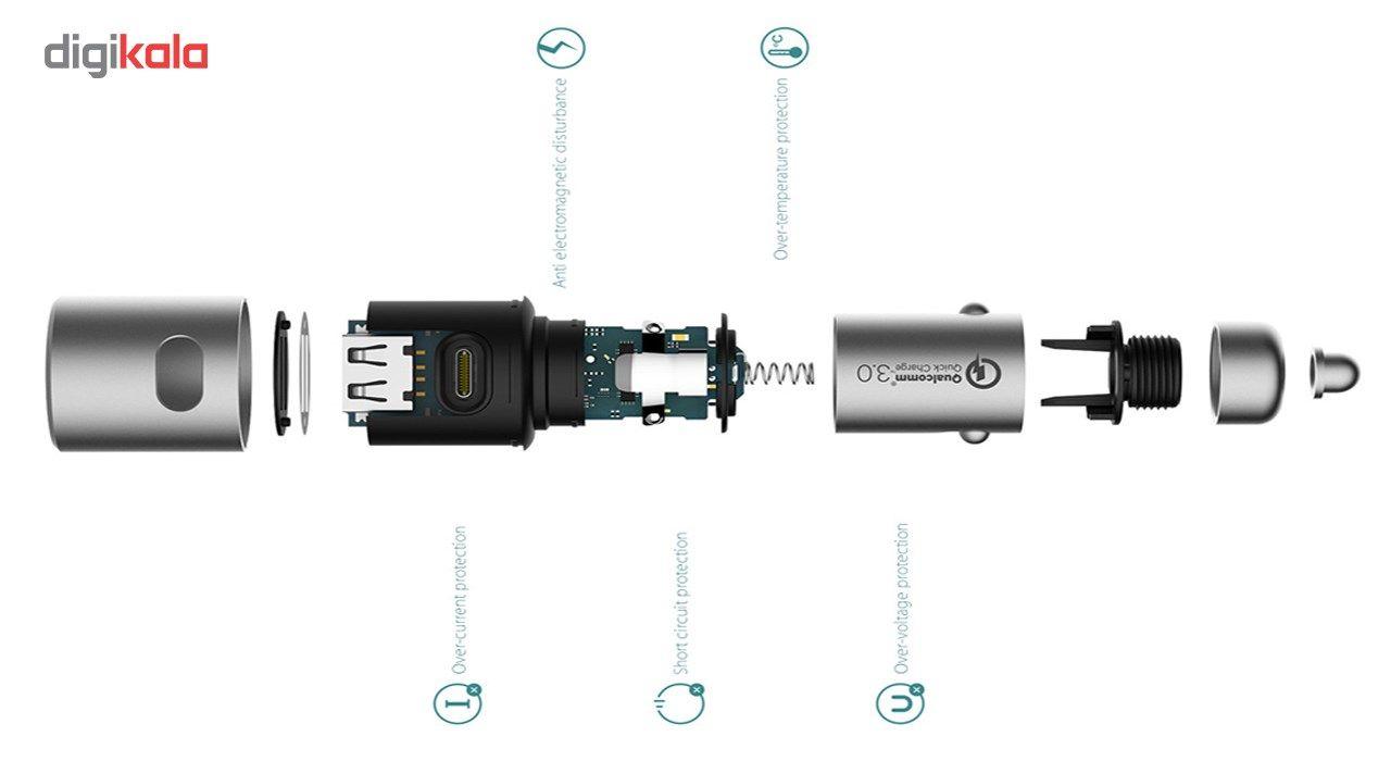شارژر فندکی شیاومی مدل   CZCDQ02ZM QC3.0 فست شارژ دارای پورت USB-C main 1 5