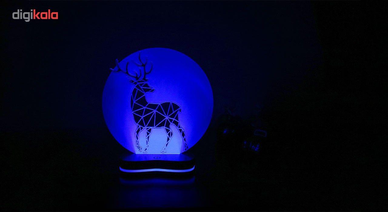 چراغ خواب سه بعدی گالری دکوماس طرح گوزن کد DMS144