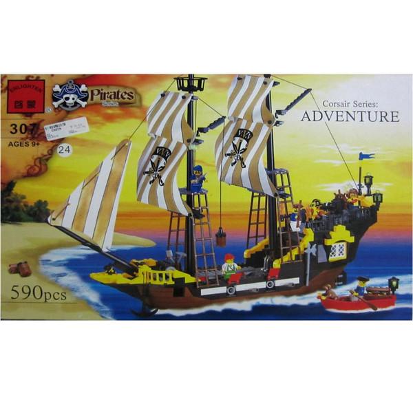 لگو کشتی دزدان دریایی انلایتن مدل 307 تعداد 590 قطعه