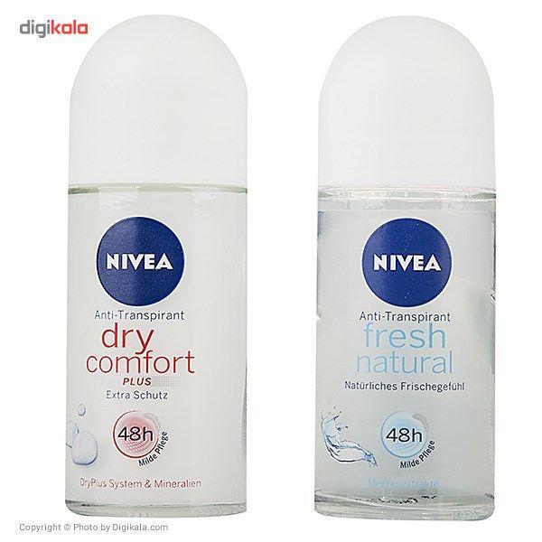 پک رول ضد تعریق زنانه نیوآ مدل Dry Comfort و Fresh Natural حجم 50 میلی لیتر-بسته 2 عددی main 1 1