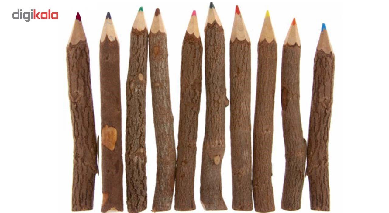 مداد رنگی 10 عددی مدل چوبی main 1 2