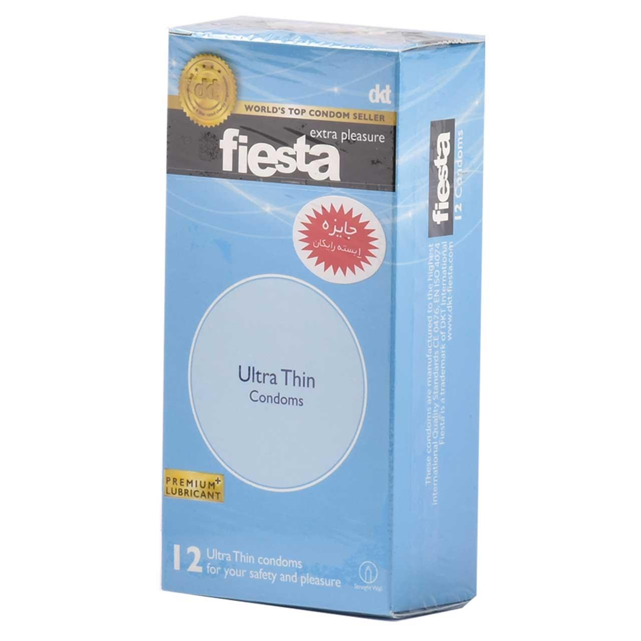 قیمت کاندوم نازک فیستا مدل Ultra Thin بسته 12 عددی