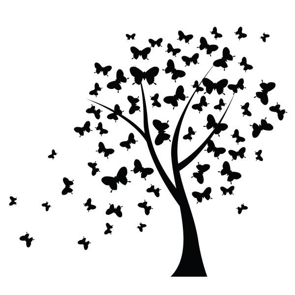 استیکر سالسو طرح درخت پروانه ای