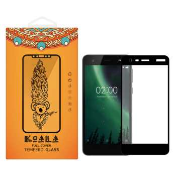 محافظ صفحه نمایش شیشه ای کوالا مدل Full Cover مناسب برای گوشی موبایل نوکیا 2