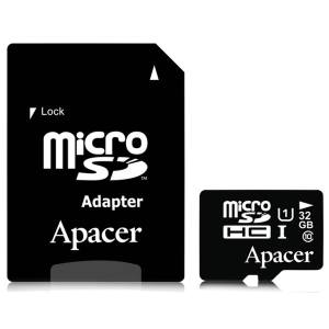 کارت حافظهی اپیسر microSDHC 32GB UHS-I Class10 With Adapter