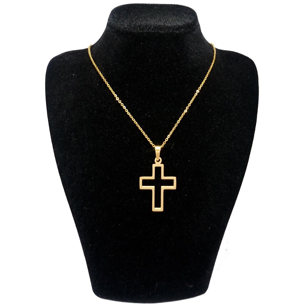 قیمت گردنبند آی جواهر طرح صلیب کد 11406G