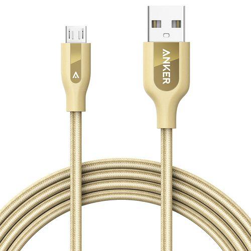 کابل تبدیل USB به Micro-USB انکر مدل A8143 PowerLine Plus طول 1.8 متر