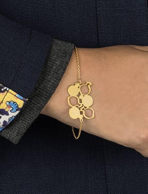 دستبند طلا 18 عیار ماهک مدل MB0146 - مایا ماهک -  - 2
