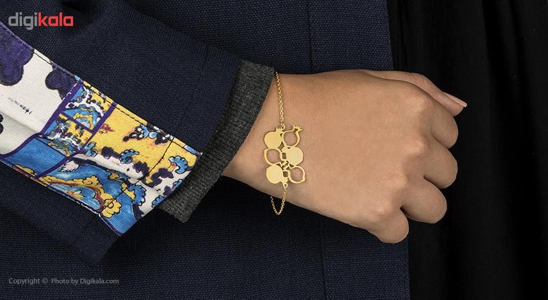 دستبند طلا 18 عیار ماهک مدل MB0146
