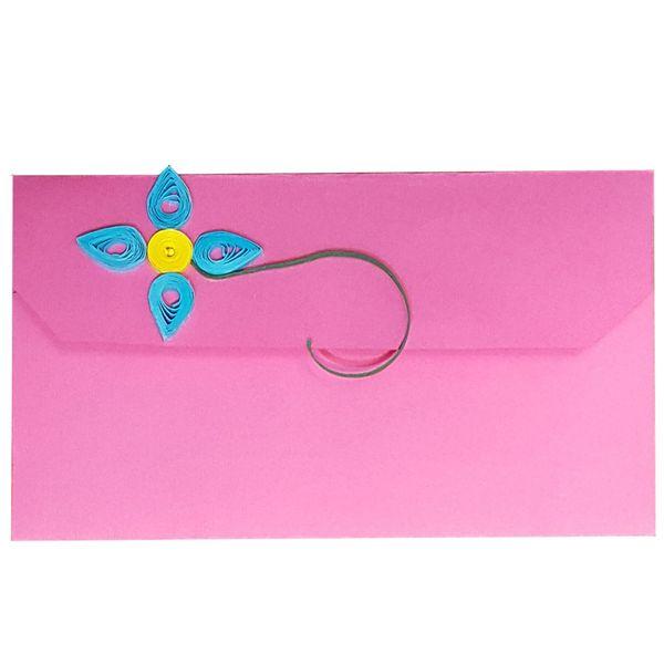 پاکت پول و هدیه گل مثلثی کد MRK2