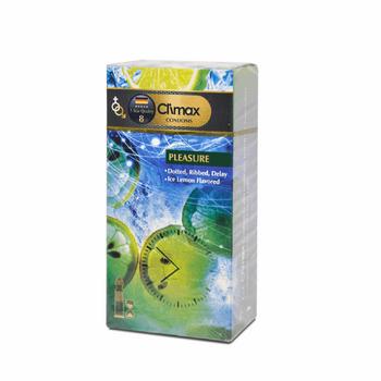 کاندوم کلایمکس مدل Pleasure 8 بسته 12 عددی