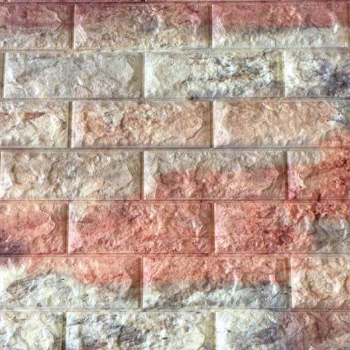 دیوارپوش فومی طرح آجر خاکستری شرابی کد FB اندازه 71x77