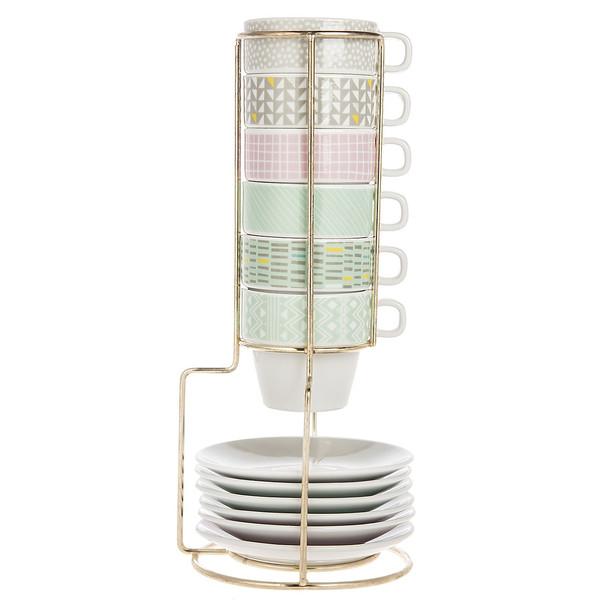 فنجان و نعلبکی پرزنت تایم مدل PT2512 - بسته 6 عددی